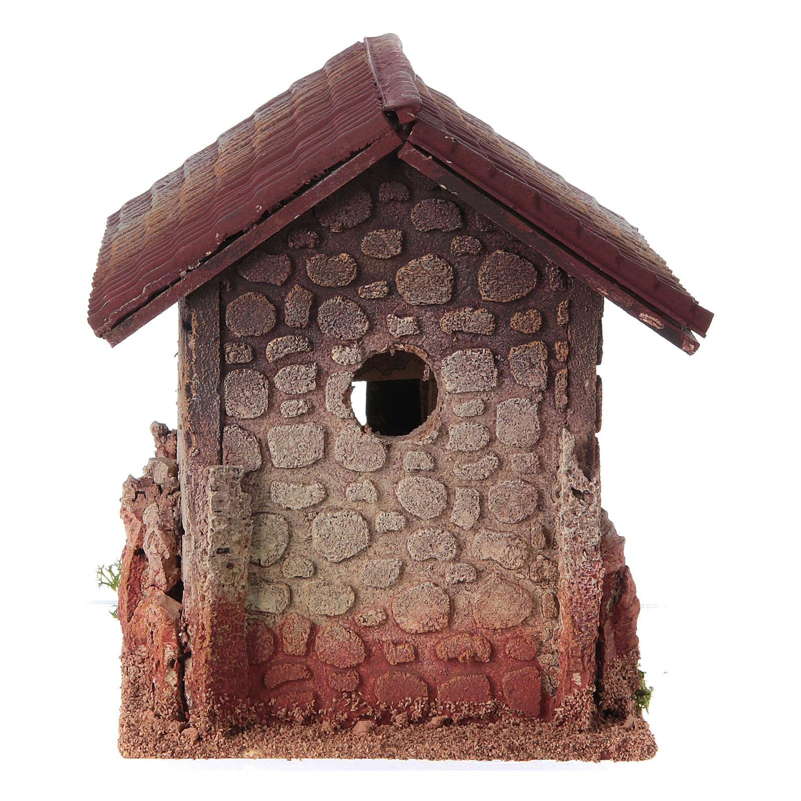 Décor crèche maison style nordique 19x15x20 4