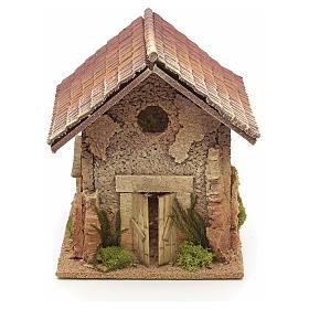 Décor crèche maison style nordique 19x15x20 s1