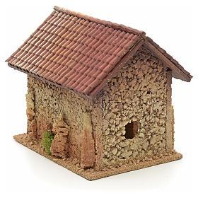 Décor crèche maison style nordique 19x15x20 s4
