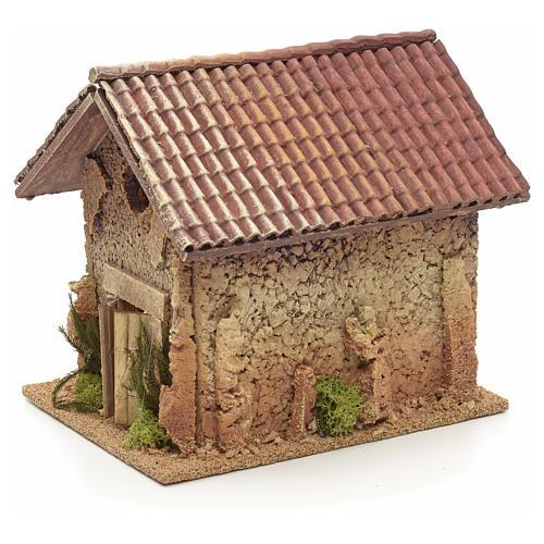 Décor crèche maison style nordique 19x15x20 3