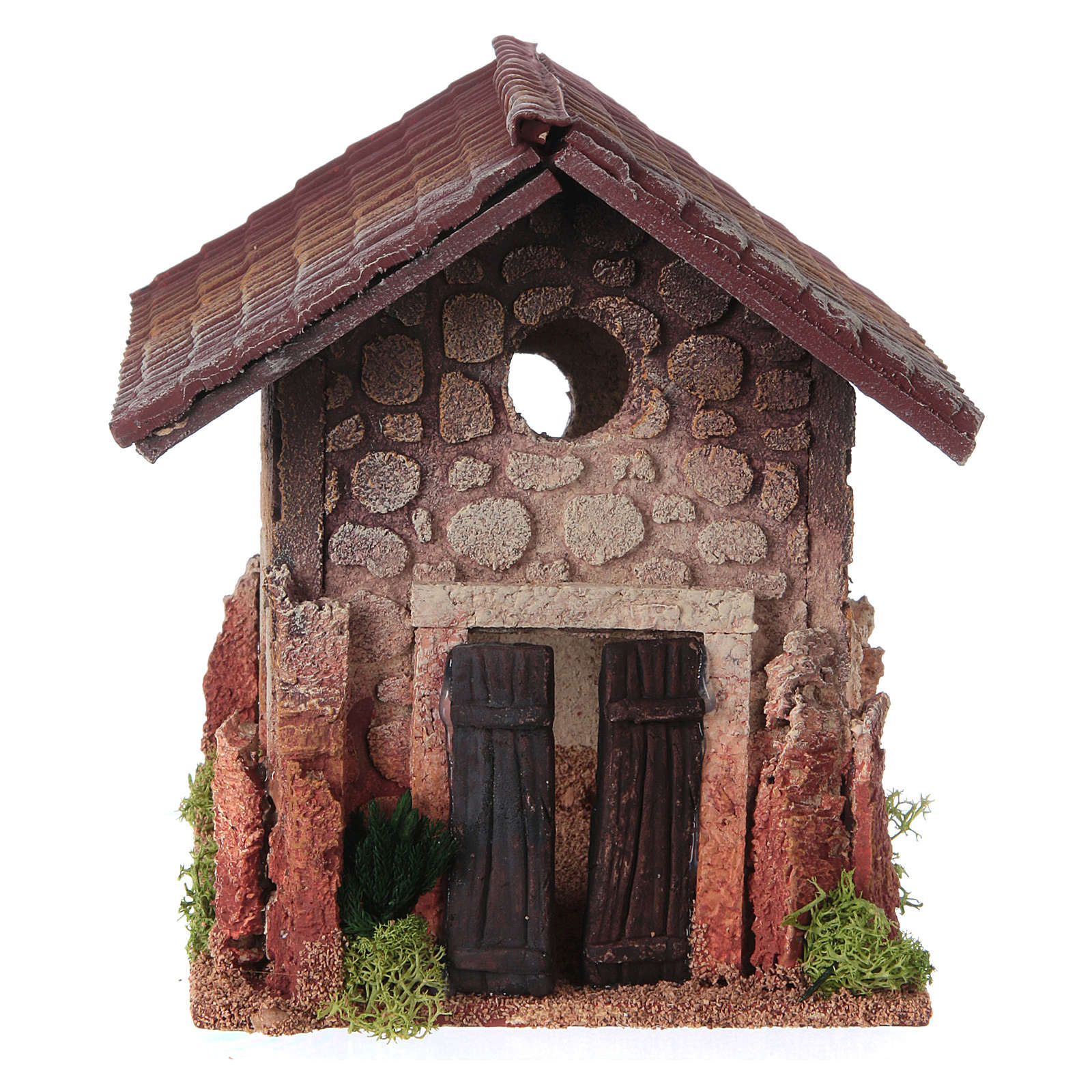 Nativity setting, rural house, northern style 19x15x20cm 4