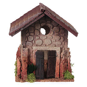 Nativity setting, rural house, northern style 19x15x20cm s1