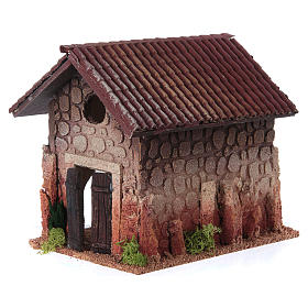 Nativity setting, rural house, northern style 19x15x20cm s2