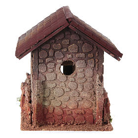 Nativity setting, rural house, northern style 19x15x20cm s4