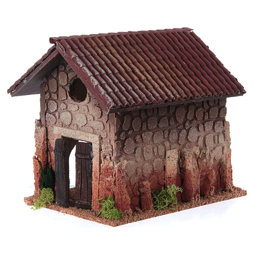 Nativity setting, rural house, northern style 19x15x20cm 2