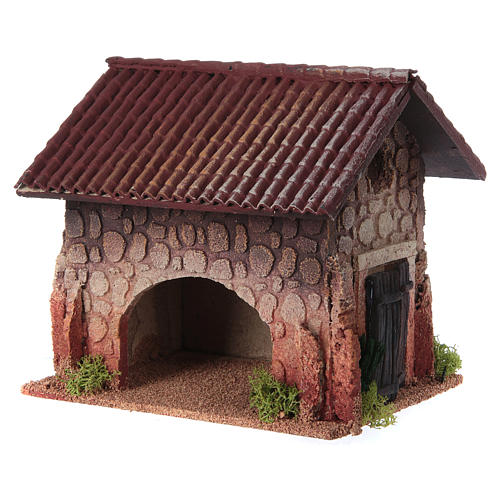 Nativity setting, rural house, northern style 19x15x20cm 3