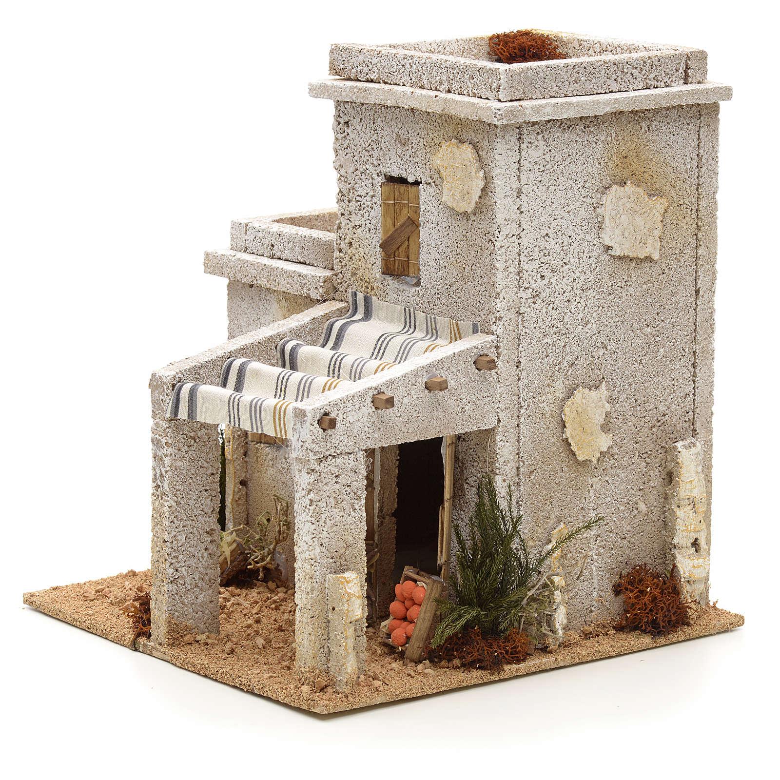 Maison arabe en miniature avec magasin de fruits pour crèche 4