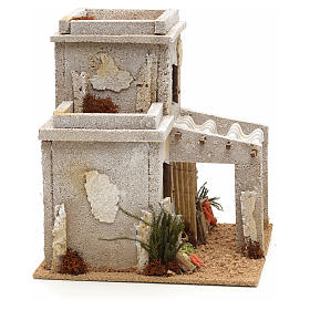 Maison arabe en miniature avec magasin de fruits pour crèche s2