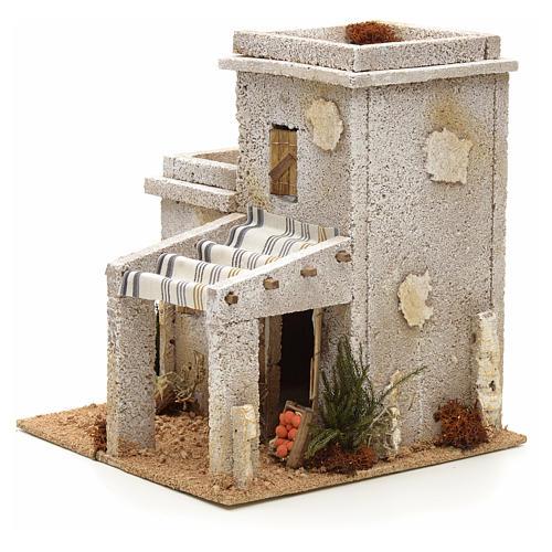 Maison arabe en miniature avec magasin de fruits pour crèche 3
