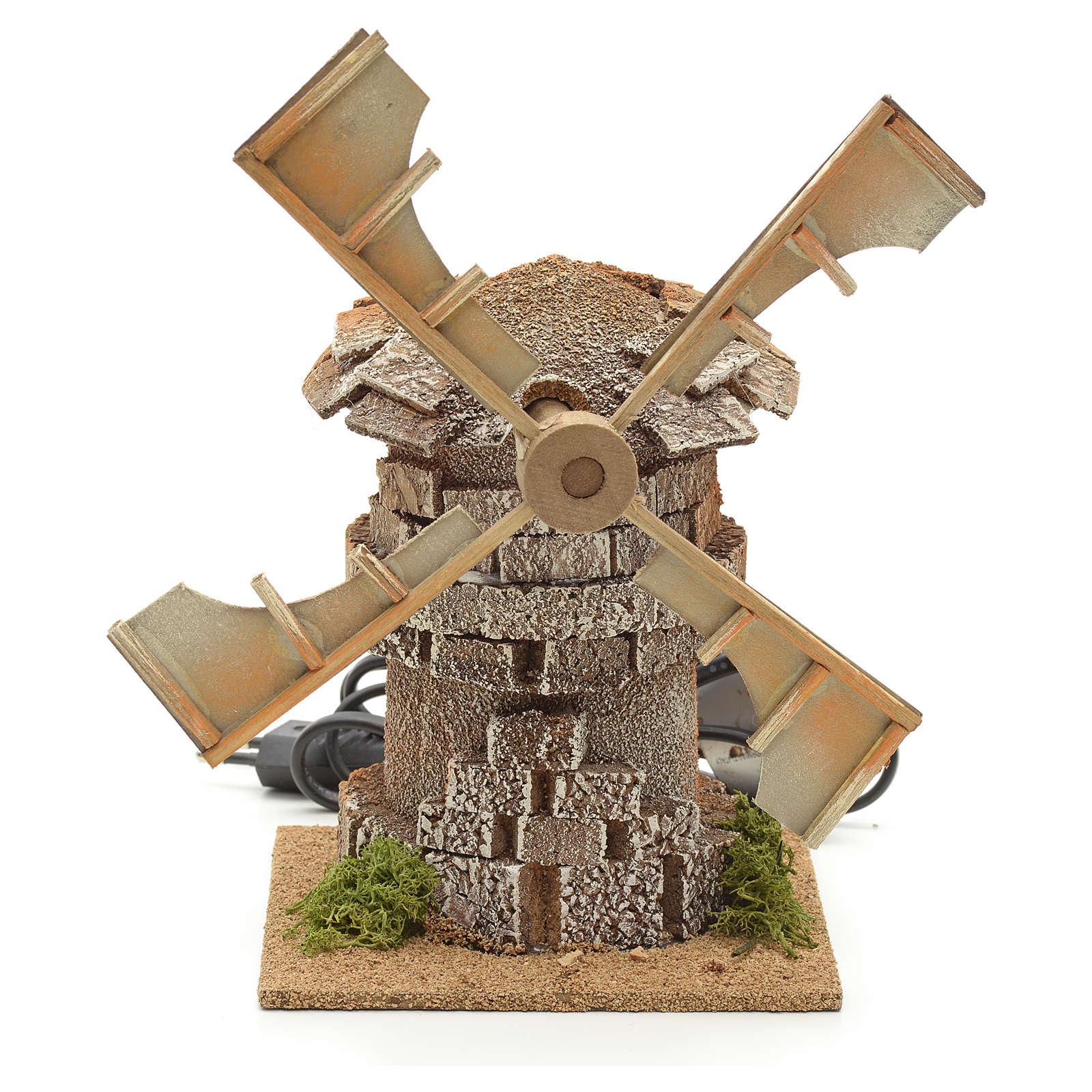 Moulin à vent en miniature crèche 17x12x12cm 4