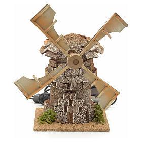 Moulin à vent en miniature crèche 17x12x12cm s1