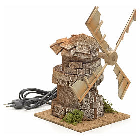Moulin à vent en miniature crèche 17x12x12cm s2