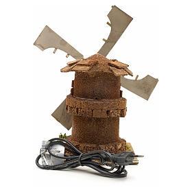 Moulin à vent en miniature crèche 17x12x12cm s4