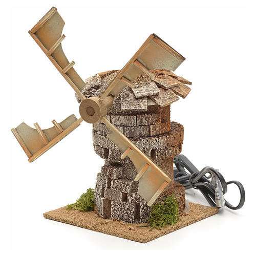 Moulin à vent en miniature crèche 17x12x12cm 3