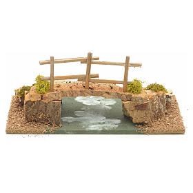 Nativity setting, cork bridge 10x20x10cm s1