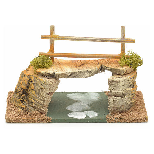 Nativity setting, cork bridge 8x15x7cm 2