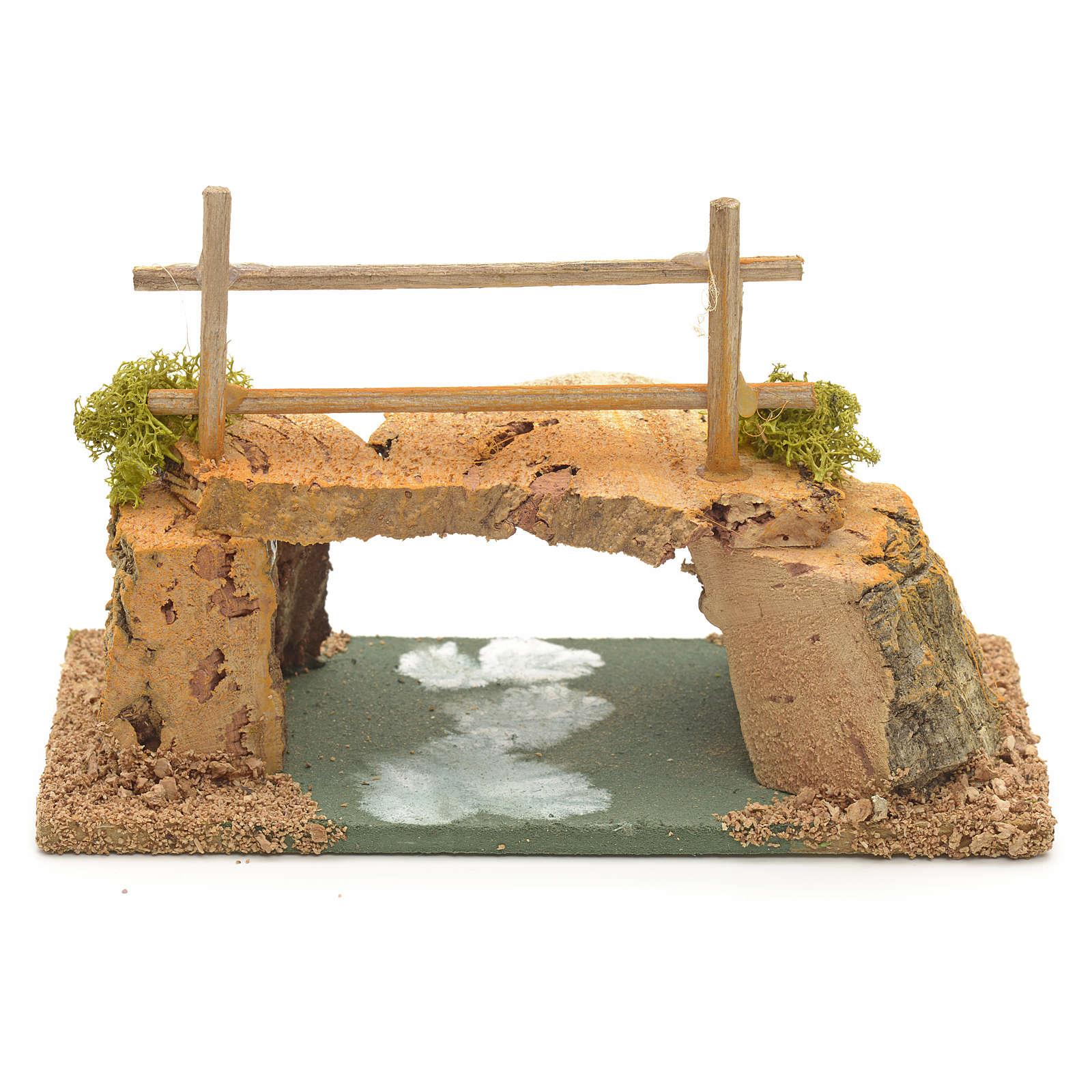 Nativity setting, cork bridge 8x15x7cm 4