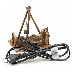 Miniature feu de bois électrique pour crèche s2