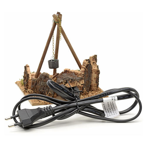 Miniature feu de bois électrique pour crèche 2