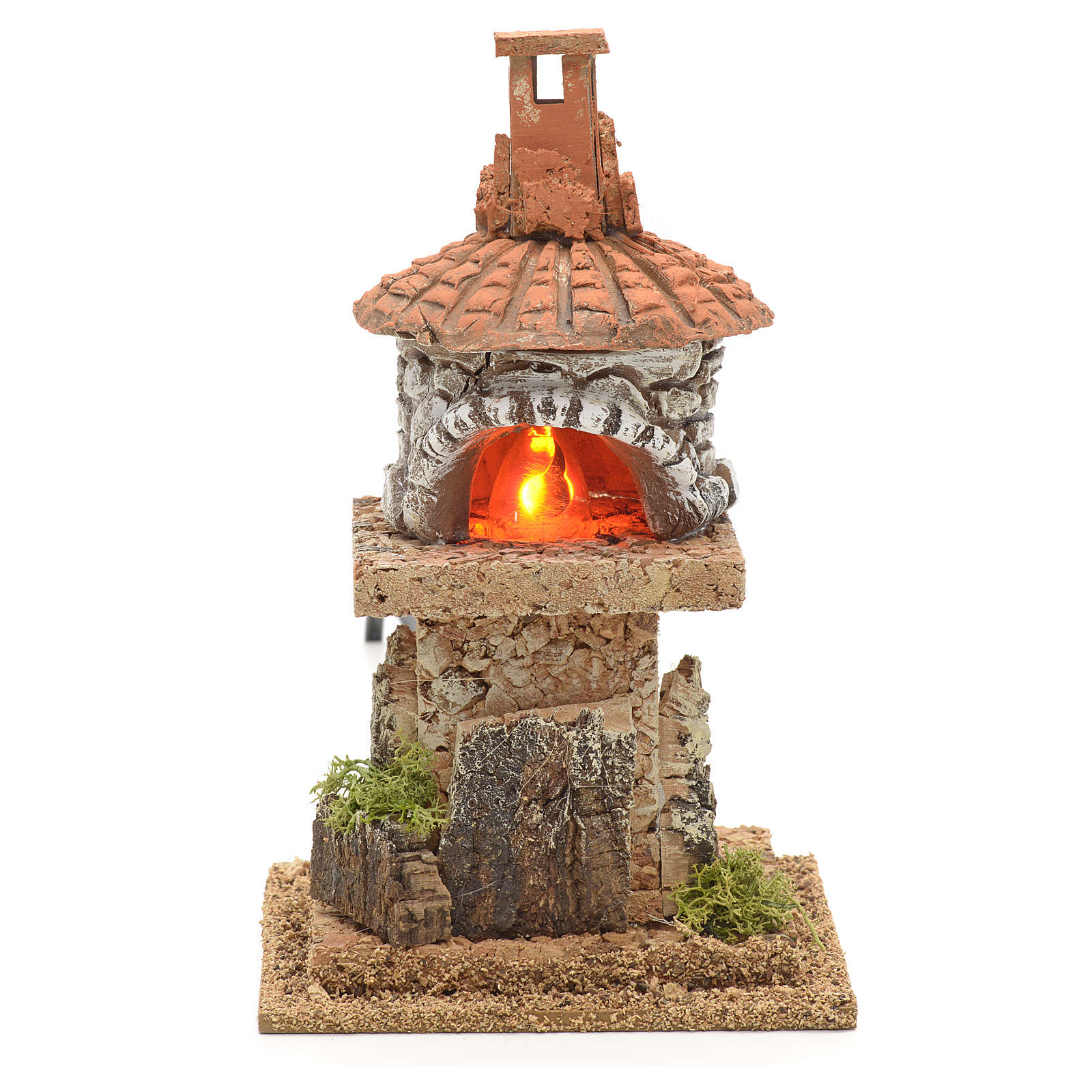 Nativity accessory, electric fire 18x15x15cm 4