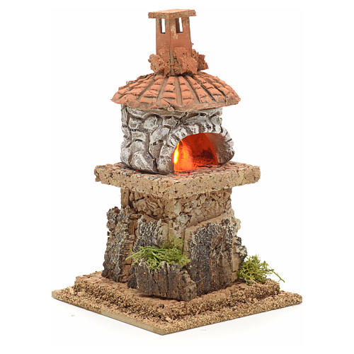 Nativity accessory, electric fire 18x15x15cm 2