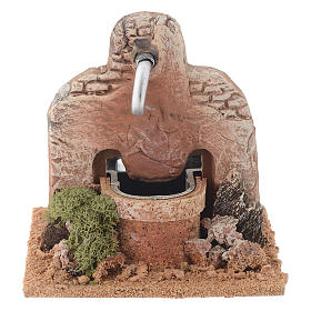 Nativity fountain in terracotta 13x12x12cm s1