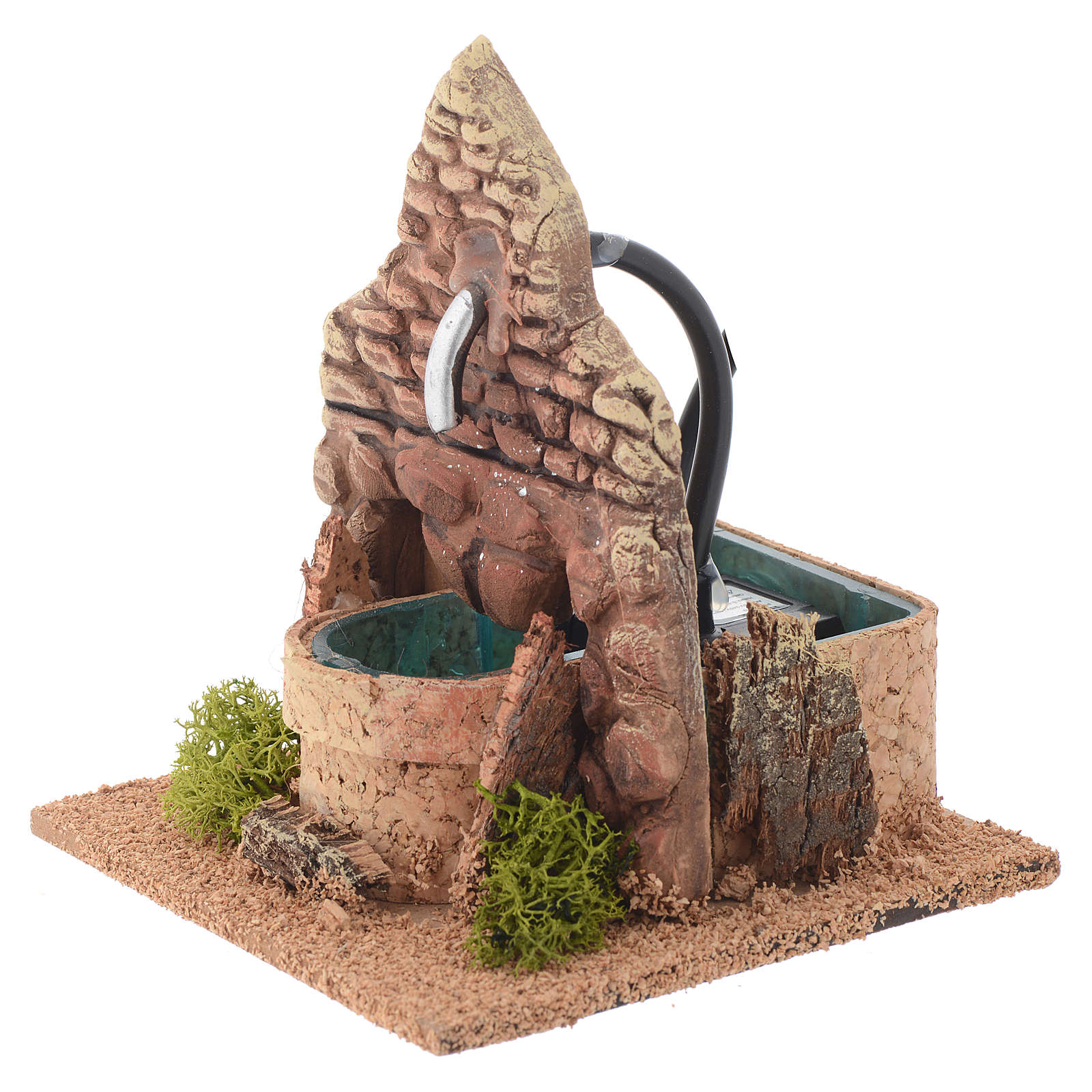 Fontaine terre cuite style arabe 12x12x13 cm 4