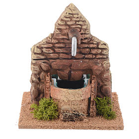 Fontaine terre cuite style arabe 12x12x13 cm s1