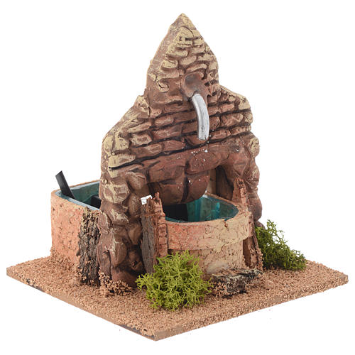 Fontaine terre cuite style arabe 12x12x13 cm 3