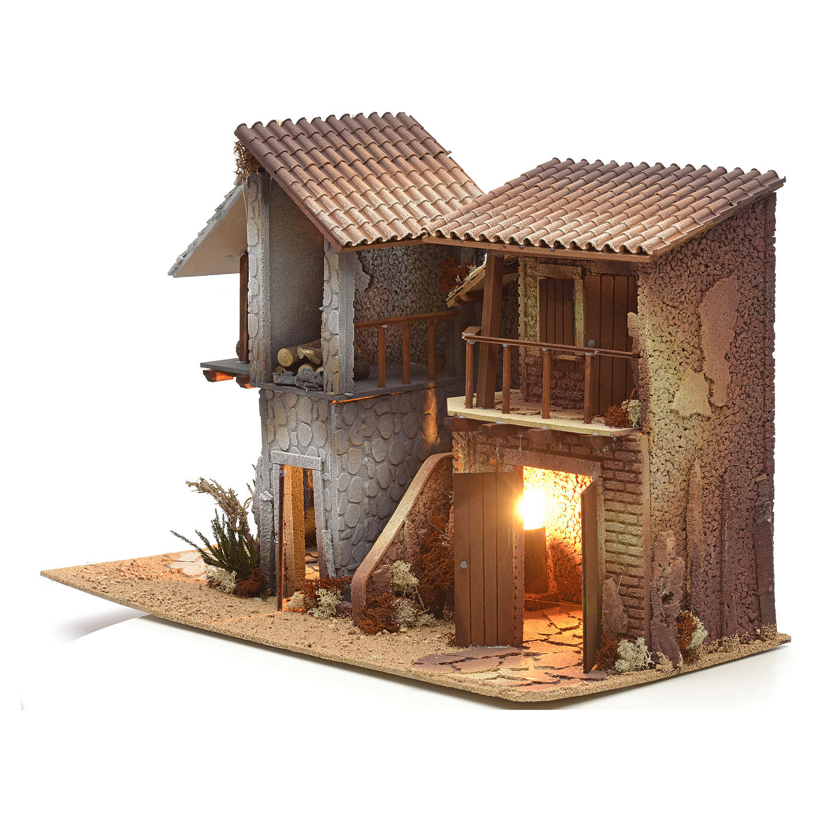 Nativity setting, double house, northern style 4