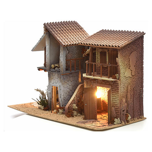 Nativity setting, double house, northern style 3