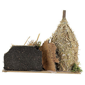 Nativity setting, haystack with sheep 12x20x12cm s4