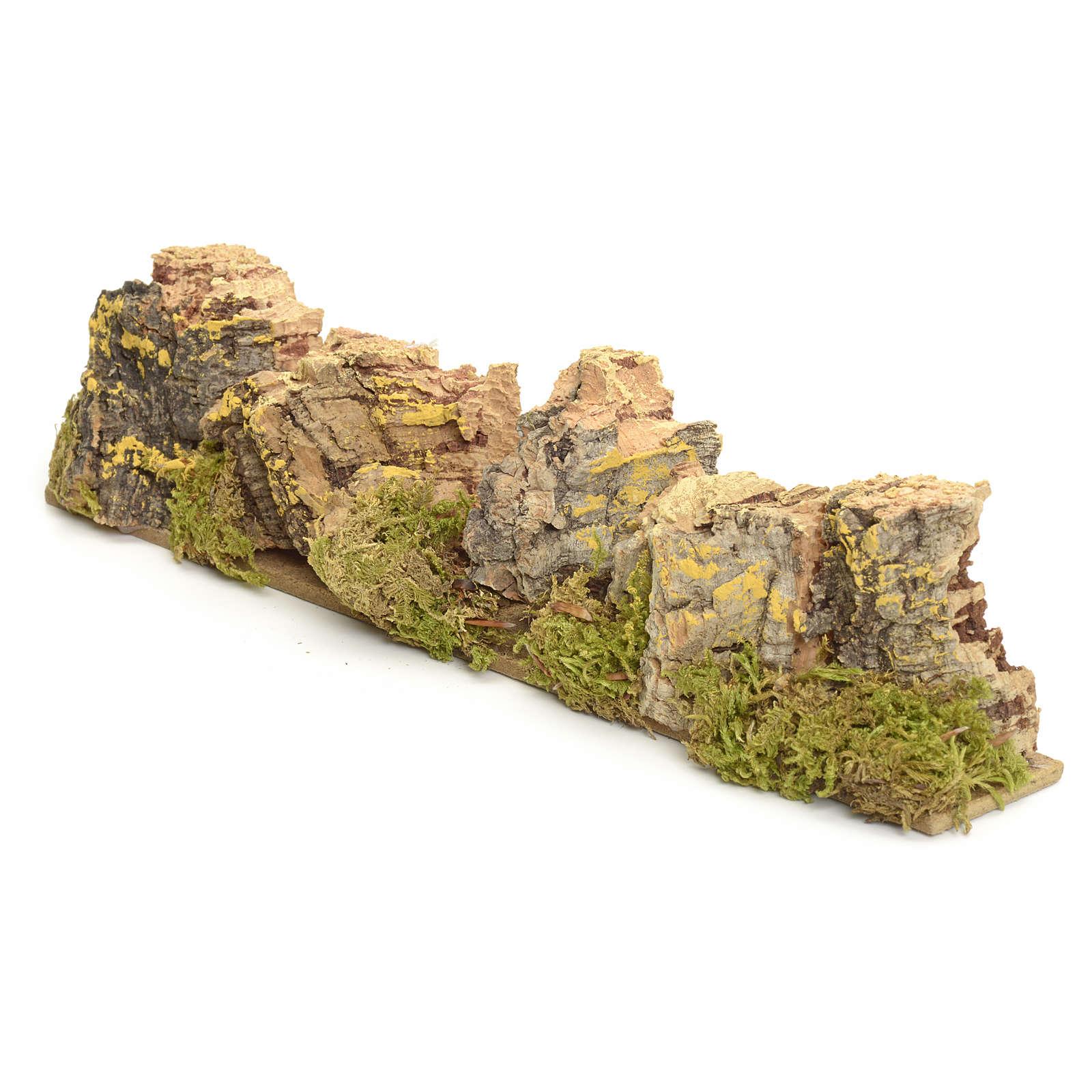 Montagne presepe in sughero 4x24x6 cm 4