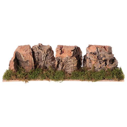 Montagne presepe in sughero 4x24x6 cm 1