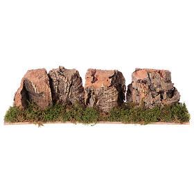 Montanhas presépio em cortiça 4x24x6 cm s1