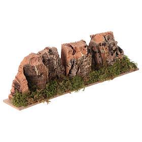 Nativity setting, mountains in cork 4x24x6cm s3