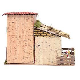 Abgelegenes Haus mit Geflügel und Esel 20x28x15 cm s4
