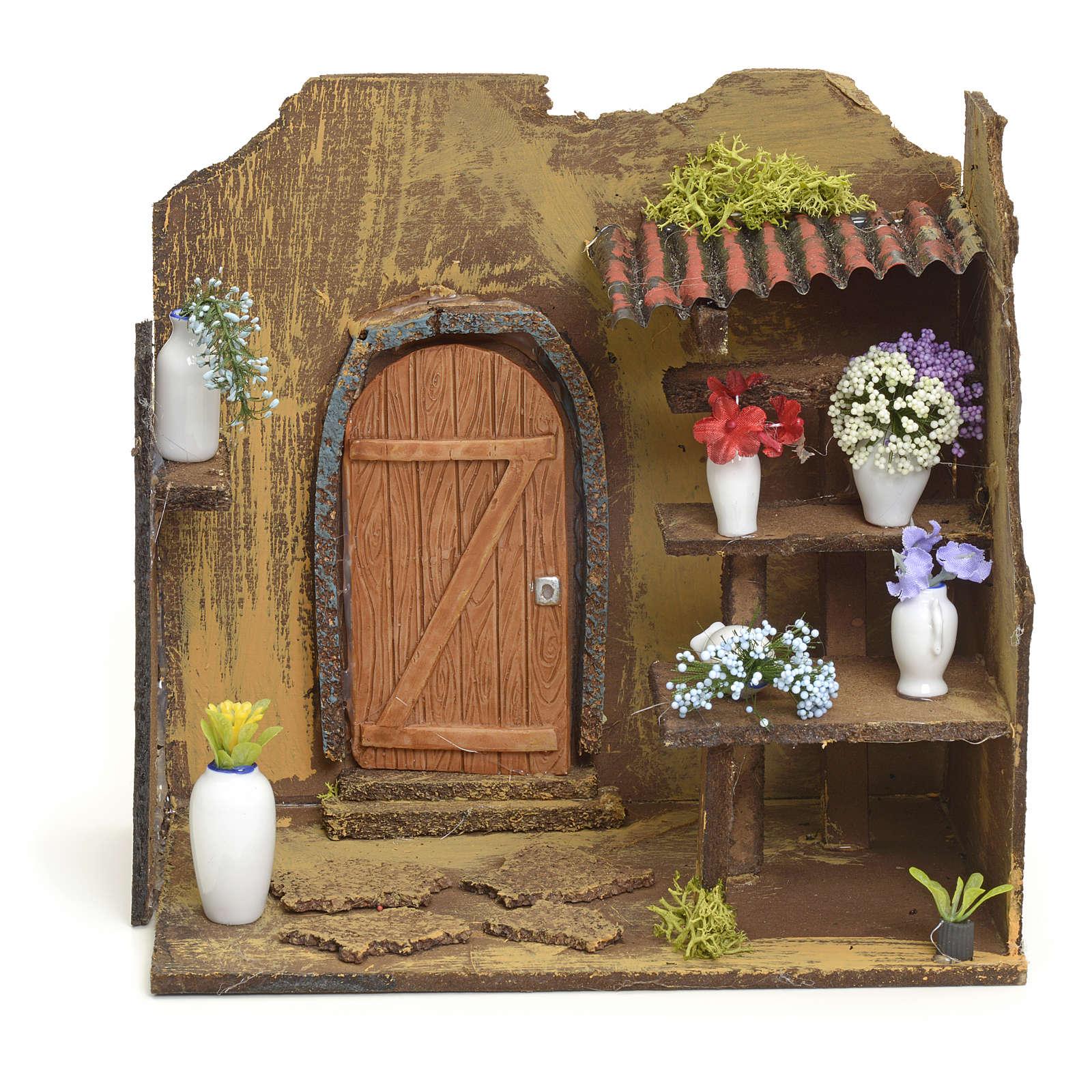 Décor crèche boutique de fleuriste 20x20x14 4