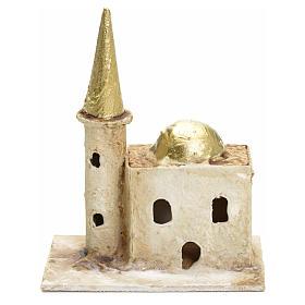 Décor crèche minaret avec tour 13x10x6cm s1