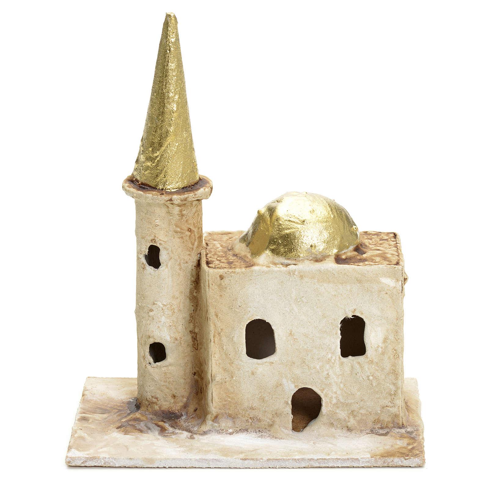 Minareto per presepe con torre 13x10x6 4