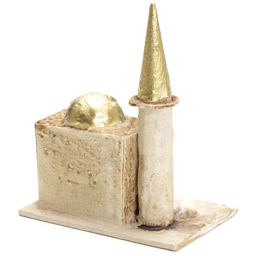 Minareto per presepe con torre 13x10x6 2