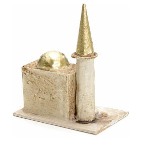 Nativity setting, minaret with tower 13x10x6cm s2