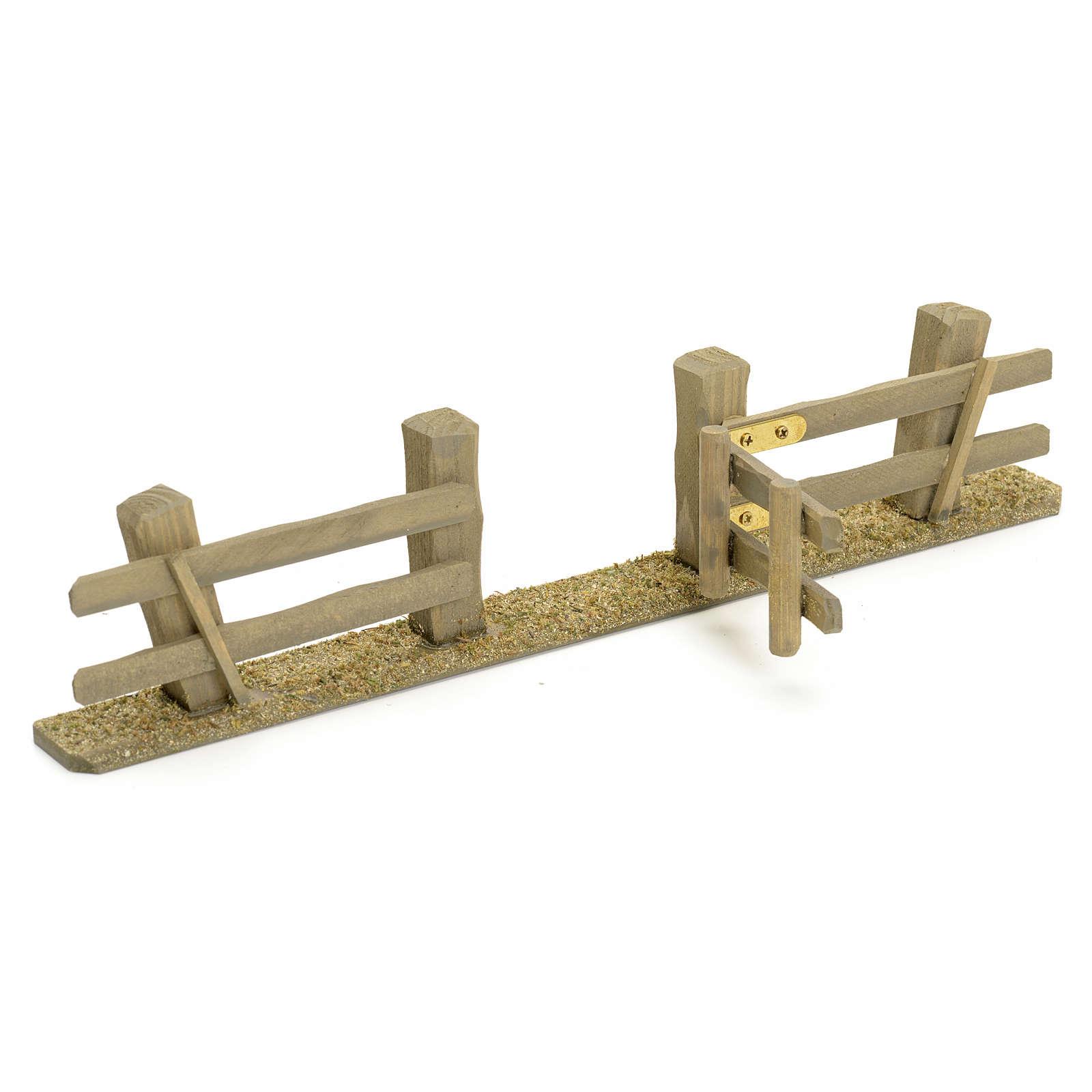 Staccionata presepe con cancello 3x7x2 4