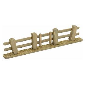 Staccionata presepe con cancello 3x7x2 s1