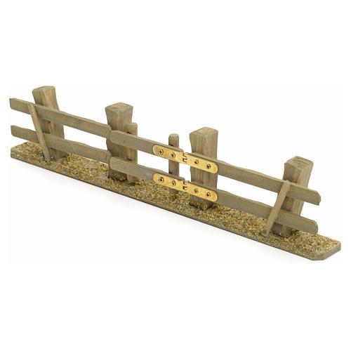 Staccionata presepe con cancello 3x7x2 2