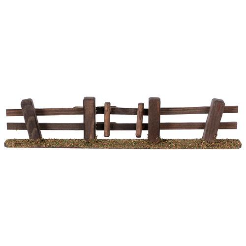 Staccionata presepe con cancello 3x7x2 1