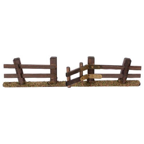 Staccionata presepe con cancello 3x7x2 3