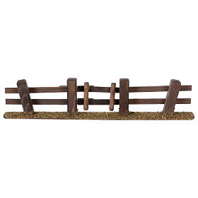 Nativity setting, fence with gate 3x7x2 cm s1
