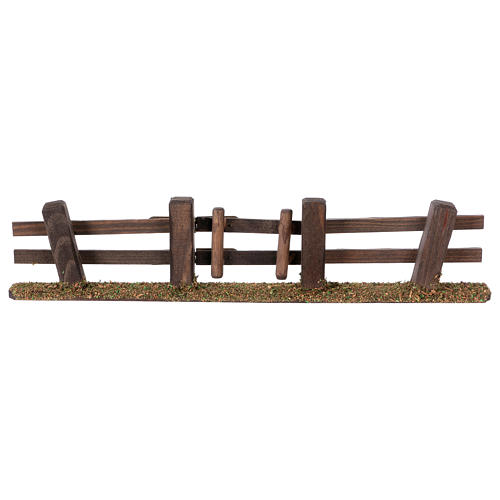 Nativity setting, fence with gate 3x7x2 cm 1