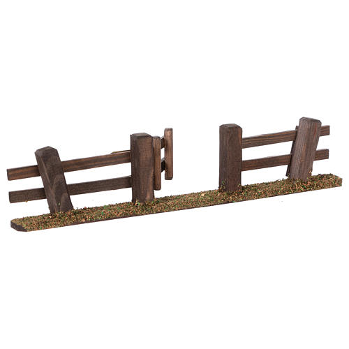 Nativity setting, fence with gate 3x7x2 cm 2